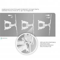 """ONKRON кронштейн для телевизора 37""""-70"""" наклонно-поворотный, белый M5 - вид 4 миниатюра"""