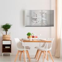 """ONKRON кронштейн для телевизора 32""""-60"""" наклонно-поворотный, белый M5 - вид 6 миниатюра"""