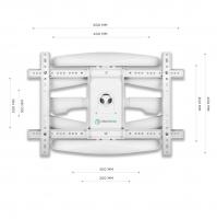 """ONKRON кронштейн для телевизора 40""""-75"""" наклонно-поворотный, белый M6L - вид 4 миниатюра"""