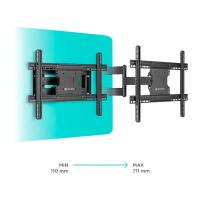 """ONKRON кронштейн для телевизора 40""""-70"""" наклонно-поворотный, чёрный M7L - вид 2 миниатюра"""