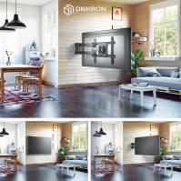 """ONKRON кронштейн для телевизора 40""""-70"""" наклонно-поворотный, чёрный M7L - вид 6 миниатюра"""