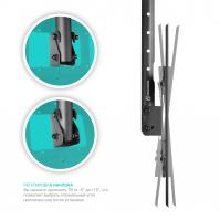 """ONKRON потолочный кронштейн для телевизора 32""""-80"""" потолочный телескопический, чёрный N1L - вид 2 миниатюра"""