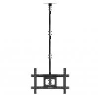 """ONKRON потолочный кронштейн для телевизора 32""""-80"""" потолочный телескопический, чёрный N1L - вид 9 миниатюра"""