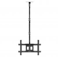 """ONKRON потолочный кронштейн для телевизора 32""""-80"""" потолочный телескопический, чёрный N2L - вид 1 миниатюра"""