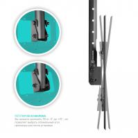 """ONKRON потолочный кронштейн для телевизора 32""""-80"""" потолочный телескопический, чёрный N2L - вид 2 миниатюра"""