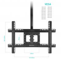 """ONKRON потолочный кронштейн для телевизора 32""""-80"""" потолочный телескопический, чёрный N2L - вид 4 миниатюра"""