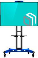 """ONKRON стойка для телевизора с кронштейном 32""""-65"""", мобильная, чёрная TS1551 - вид 1 миниатюра"""