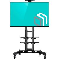 """ONKRON стойка для телевизора с кронштейном 32""""-65"""", мобильная, чёрная TS1552 - вид 1 миниатюра"""