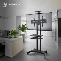 """ONKRON стойка для телевизора с кронштейном 32""""-65"""", мобильная, чёрная TS1552 - вид 7 миниатюра"""
