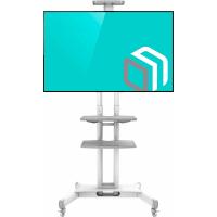 "ONKRON стойка для телевизора с кронштейном 40""-70"", мобильная, белая TS1552 - вид 1 миниатюра"