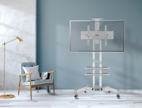 "ONKRON стойка для телевизора с кронштейном 40""-70"", мобильная, белая TS1552 - вид 6 миниатюра"