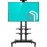 """ONKRON стойка для телевизора с кронштейном 50""""-86"""", мобильная, чёрная TS1881 - вид 1 миниатюра"""