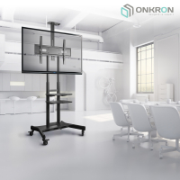 """ONKRON стойка для телевизора с кронштейном 50""""-86"""", мобильная, чёрная TS1881 - вид 7 миниатюра"""