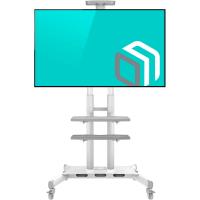 "ONKRON стойка для телевизора с кронштейном 50""-86"", мобильная, белая TS1881 - вид 1 миниатюра"