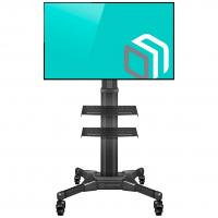 """ONKRON стойка для телевизора с кронштейном 32""""-55"""", мобильная, чёрная TS2551 - вид 1 миниатюра"""
