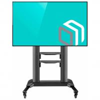 """ONKRON стойка для телевизора с кронштейном 50""""-82"""", мобильная, чёрная TS2771 - вид 1 миниатюра"""