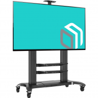 "ONKRON стойка для телевизора с кронштейном 60""-100"", мобильная, чёрная TS2811 NEW - вид 1 миниатюра"