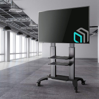 "ONKRON стойка для телевизора с кронштейном 60""-100"", мобильная, чёрная TS2811 NEW - вид 9 миниатюра"