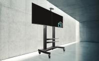 """ONKRON стойка для двух телевизоров с кронштейном 40""""-63"""", мобильная, чёрная TS3811 - вид 7 миниатюра"""