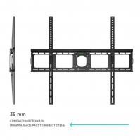 """ONKRON кронштейн для телевизора 55""""-100"""" фиксированный, чёрный UF4 - вид 3 миниатюра"""