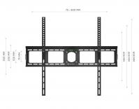 """ONKRON кронштейн для телевизора 40""""-80"""" фиксированный, чёрный UF4 - вид 4 миниатюра"""