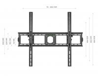 """ONKRON кронштейн для телевизора 40""""-85"""" наклонный, чёрный UT4 - вид 3 миниатюра"""